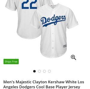 4XL Kershaw Dodgers Jersey Majestic Brand